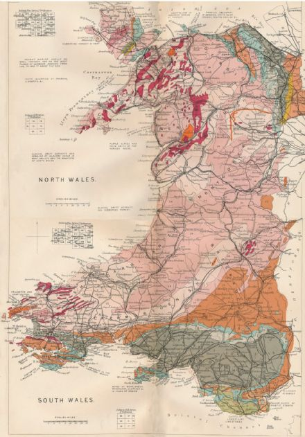 Stanford's Geological Map of Wales - Historical